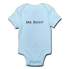 Mr Right part of his and hers set Body Suit