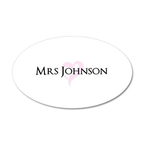 Own name Mr and Mrs set - Heart Mrs Wall Sticker
