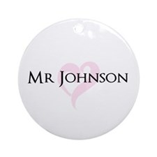 Own name Mr and Mrs set - Mr Ornament (Round)