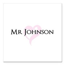 Own name Mr and Mrs set - Mr Square Car Magnet 3""