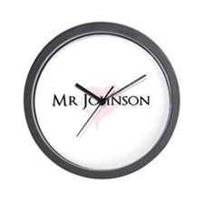 Own name Mr and Mrs set - Mr Wall Clock