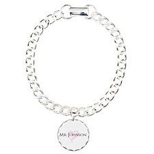 Own name Mr and Mrs set - Mr Charm Bracelet, One C