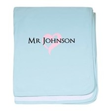 Own name Mr and Mrs set - Mr baby blanket