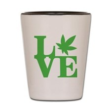 WeedLove (Kelly Green) Shot Glass