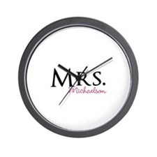Your own name Mr and Mrs set - Mrs Wall Clock