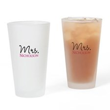 Customizable Mr and Mrs set - Mrs Drinking Glass