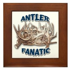 Antler Fanatic Framed Tile