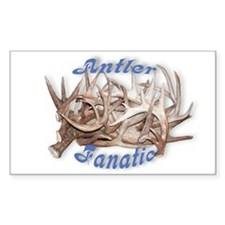 Antler Fanatic Rectangle Decal