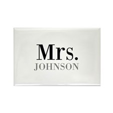 Customized Mr and Mrs set - Mrs Magnets