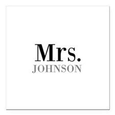 Customized Mr and Mrs set - Mrs Square Car Magnet