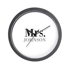 Customized Mr and Mrs set - Mrs Wall Clock