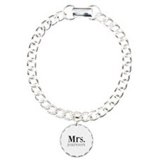 Customized Mr and Mrs set - Mrs Charm Bracelet, On