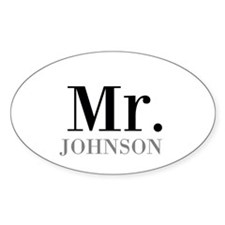 Customized Mr and Mrs set - Mr Decal