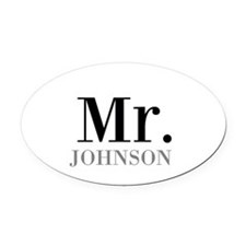 Customized Mr and Mrs set - Mr Oval Car Magnet