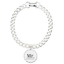 Customized Mr and Mrs set - Mr Charm Bracelet, One