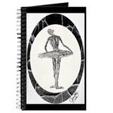 Black and White Ballerina Drawing Journal