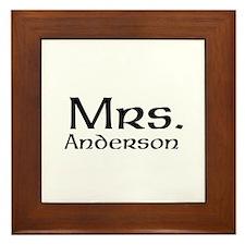 Personalized Mr and Mrs set - Mrs Framed Tile