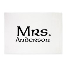 Personalized Mr and Mrs set - Mrs 5'x7'Area Rug