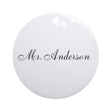 Half of Mr and Mrs set - Mr Ornament (Round)