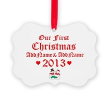 Our First Christmas 2013 Ornament