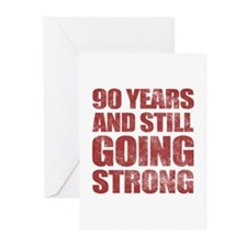 90th Birthday Still Going Strong Greeting Cards (P