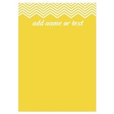 Yellow Chevron Pattern Invitations