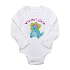 Nanny's Girl Dinosaur Long Sleeve Infant Bodysuit