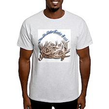 Antler Huntin Fool Ash Grey T-Shirt