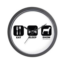 Eat Sleep Show Wall Clock