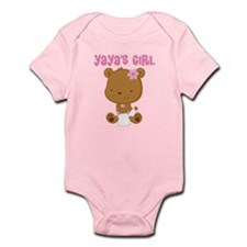 Yaya's Girl Teddy Bear Infant Bodysuit