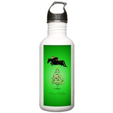 Horse Jumping Christma Water Bottle