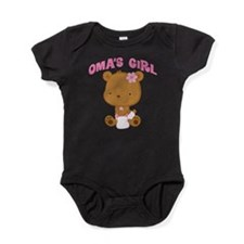Oma's Girl Teddy Bear Baby Bodysuit
