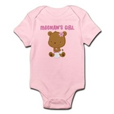Meemaw's Girl Teddy Bear Infant Bodysuit