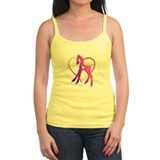 Mary pink poney in a heart Ladies Top