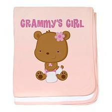 Grammy's Girl Teddy Bear baby blanket