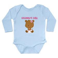 Grammy's Girl Teddy Bear Long Sleeve Infant Bodysu