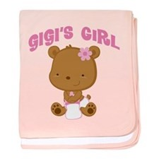 Gigi's Girl Teddy Bear baby blanket