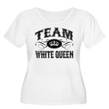 Team White Queen Plus Size T-Shirt