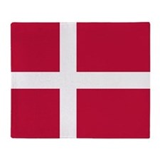 Danish Flag Throw Blanket