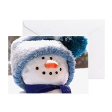 Happy Snowman Face - Thank You Greeting Card