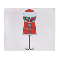 Gumball Machine Throw Blanket