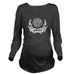 Fire Chief Tattoo Long Sleeve Maternity T-Shirt