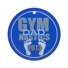 Gymnastics Dad 2013 Ornament (Round)