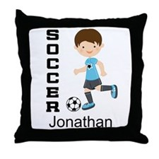 Personalized Soccer Sports Boy Throw Pillow