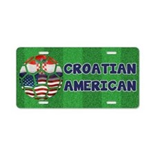 Croatian American Soccer Fan Aluminum License Plat