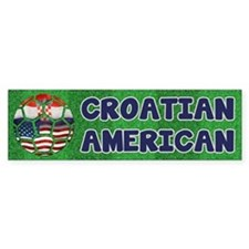 Croatian American Soccer Fan Bumper Bumper Sticker