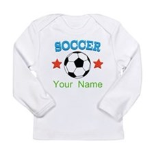 Personalized Soccer Sports Boy Long Sleeve T-Shirt