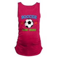 Personalized Soccer Ball Name Maternity Tank Top