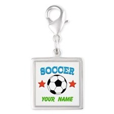 Personalized Soccer Ball Name Charms