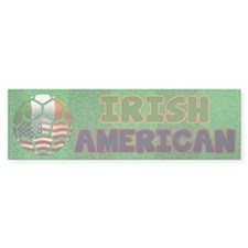 Irish American Soccer Fan Bumper Bumper Sticker